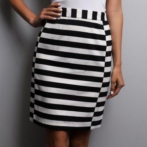Pixley Stitch Fix pencil skirt black white stripes